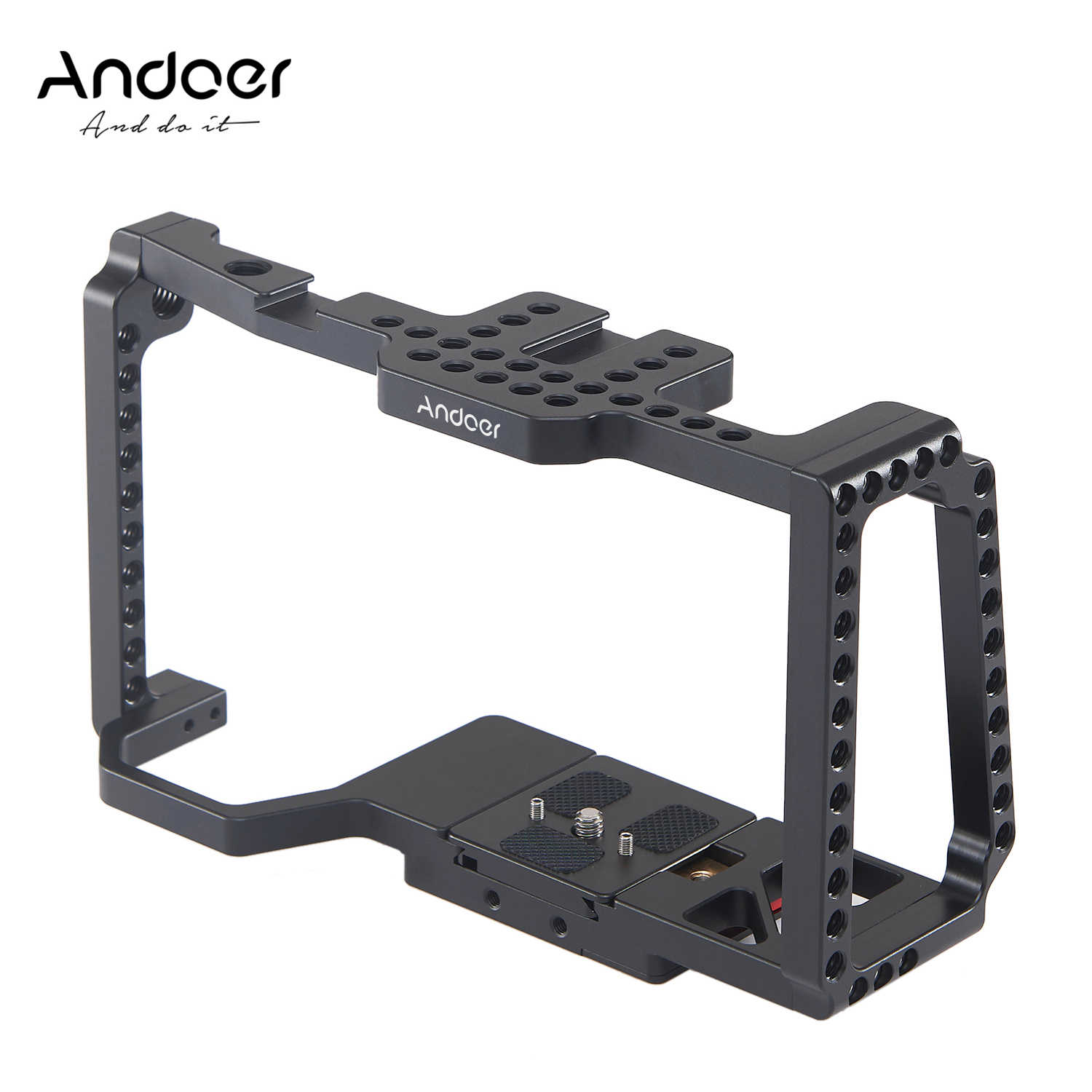 Andoer Camera Kooi Video Film Movie Kooi met Quick Release Plaat Voor Blackmagic Pocket Cinema Camera 4 K/6 K BMPCC 4K 6K
