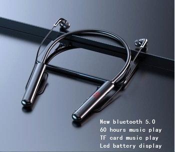 New Wireless Stereo Bluetooth Headset Music Headphone Sport Bluetooth Earphone LED battery display TF card music play earphone ttlife wireless wired bluetooth earphone tf card sport stereo music subwoofer headphone with mic for android phone xiaomi huawei