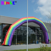 Fashion Promotion Inflatable rainbow Arch with colorful colors large standing cold air balloon For party wedding Decoration