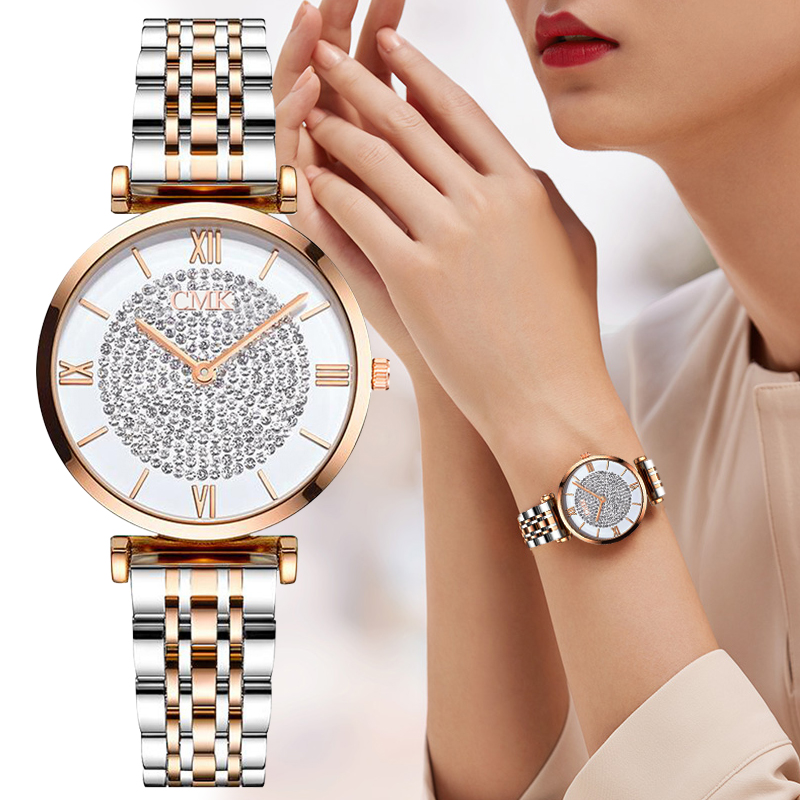 Luxury Women Watches Simple Elegant Ladies Watch Zegarek Damski Stainless Steel Metal Women's Wrsiwtwatch Relogio Feminino Saati