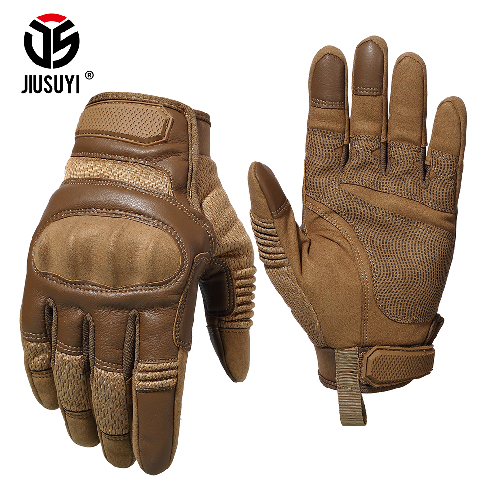 Soldier Assault Military Airsoft Full Finger Gloves Touch Screen Paintball Shooting Hard Knuckle Army Force Gear Armor GlovesMens Gloves   -