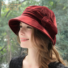 Elegant Fashion Bucket Hats New Ladies Autumn Winter Thermal Ear Protection Woman Thicken Headwear 4276