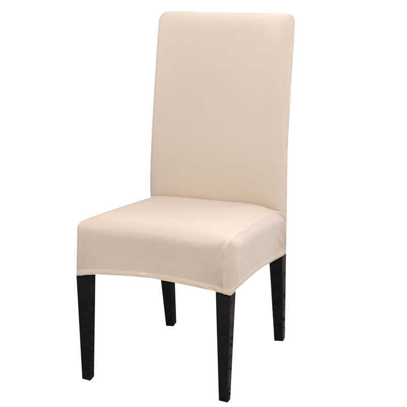 Funda de LICRA para silla de comedor de color sólido, fundas modernas de material elástico, fundas para muebles, cocina, banquete de boda