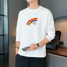 Осенняя футболка с длинным рукавом Мужская Новинка 2020 трендовая