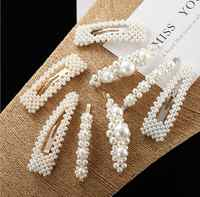 Pinzas de pelo de perlas oro redondo banda de pelo joyería delicada pelo niños accesorios envío gratis