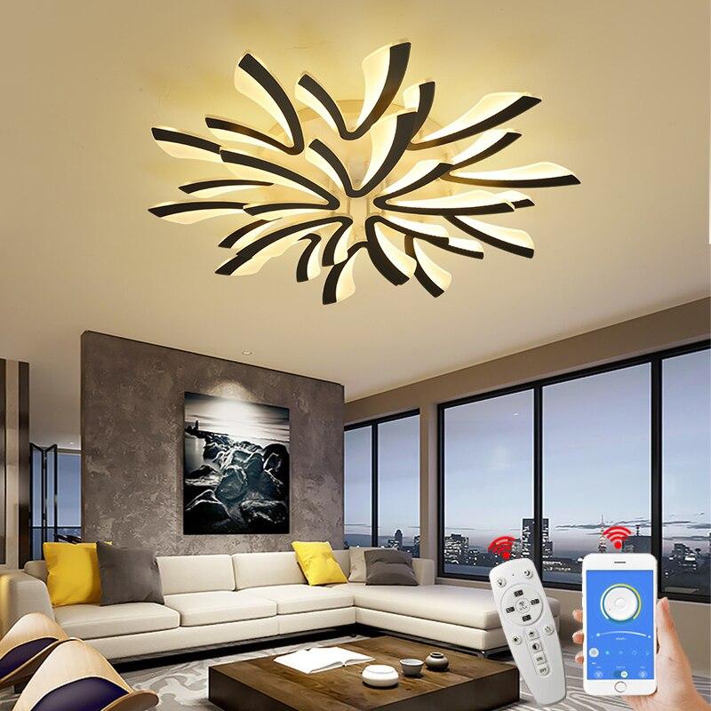 Hause NEO Gleam Moderne led Kronleuchter Für Wohnzimmer Schlafzimmer Studie Zimmer AC90-265V led techo decke kronleuchter leuchten