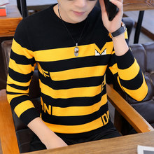 para hombre,suéter de marca Otoño Invierno 2020, suéter ajustado de lana para hombre, Jersey informal a rayas para hombre,Jerse