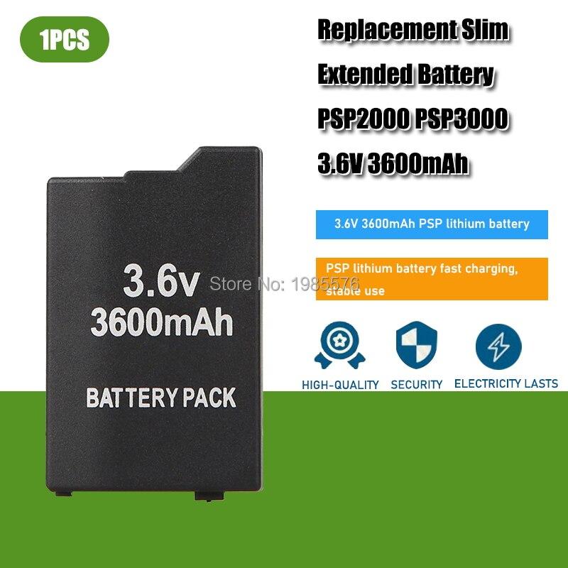 Аккумулятор для Sony PSP 3,6 PSP 3600 PSP2000 PSP3000 PlayStation Portable, 2000 в, 3000 мАч, 1 шт.