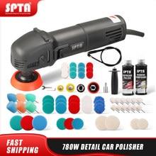 Spta 3 polegada carro elétrico detalhe polisher 110/230v máquina de polimento m14 rosca auto mini polidor carro polonês ferramenta lustrando máquina