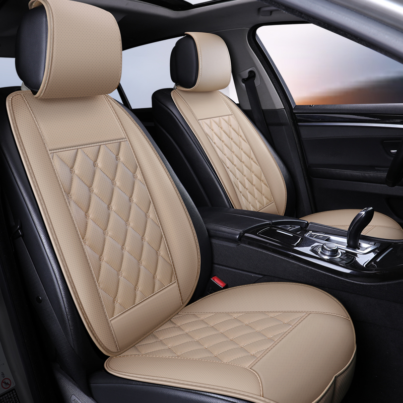Waterproof Leather Car Seat Cover Protector Mat Universal Front Backret Breathable Car Van Auto Seat Cushion Protector Pad