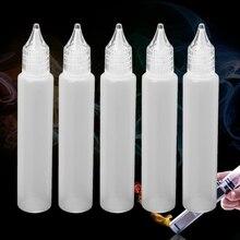 5 шт. бутылка для электронных соков Vape капельный наконечник пластиковый контейнер для хранения сжимаемая капельница 30 мл