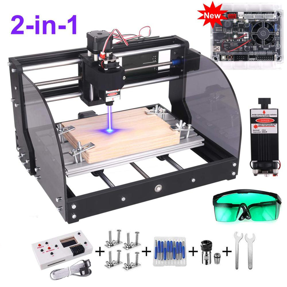 CNC 3018 Pro Max Laser Engraver GRBL DIY 3Axis PBC Milling Laser Engraving Machine Wood Router Upgrade 3018 Pro With Offline