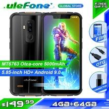 Ulefone armure 5S étanche IP68 NFC téléphone portable Octa Core Android 9 4GB RAM 64GB ROM sans fil charge Version mondiale Smartphone