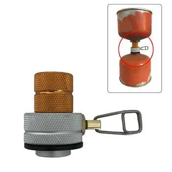 Outdoor Flat Gas Tank Inflation Valve Small Gas Tank Mutual Charging Adapter Camping Gas Furnace Gas Tank To The Connector outdoor furnace head converter split gas connector long tank propane refill adapter butane switch tool