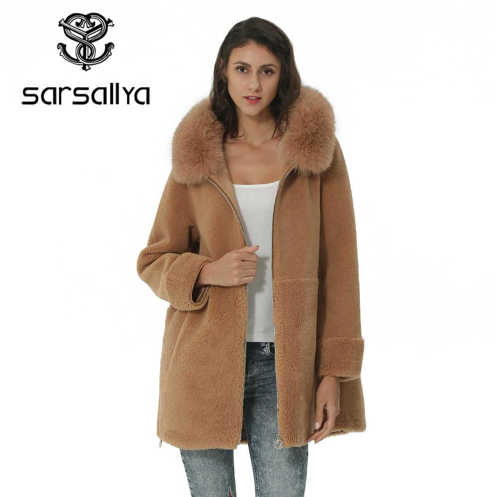 Mode Wolle Mantel Kragen Abnehmbare Pelz Kragen Wolle Mischung Mantel und Jacke Solide Frauen Mäntel Herbst Winter