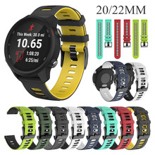 20mm 22mm Soft Silicone Sport Strap For Xiaomi LS05 Strap Bracelet For HUAWEI WATCH GT 2 Watchband Band For Garmin Forerunner245