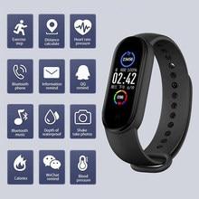 Mais novo m5 banda inteligente bluetooth esporte rastreador de fitness pedômetro m5 relógios inteligentes monitor de freqüência cardíaca chamada lembrete inteligente pulseiras
