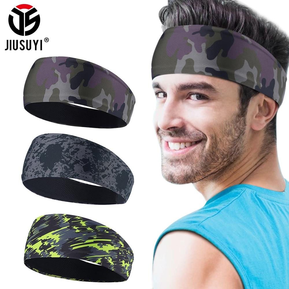 Elastic Men Headband Hairband Soft Sweatband Stretchy Headwear Bicycle Yoga Sport Moisture Wicking Hair Accessories Women Girls