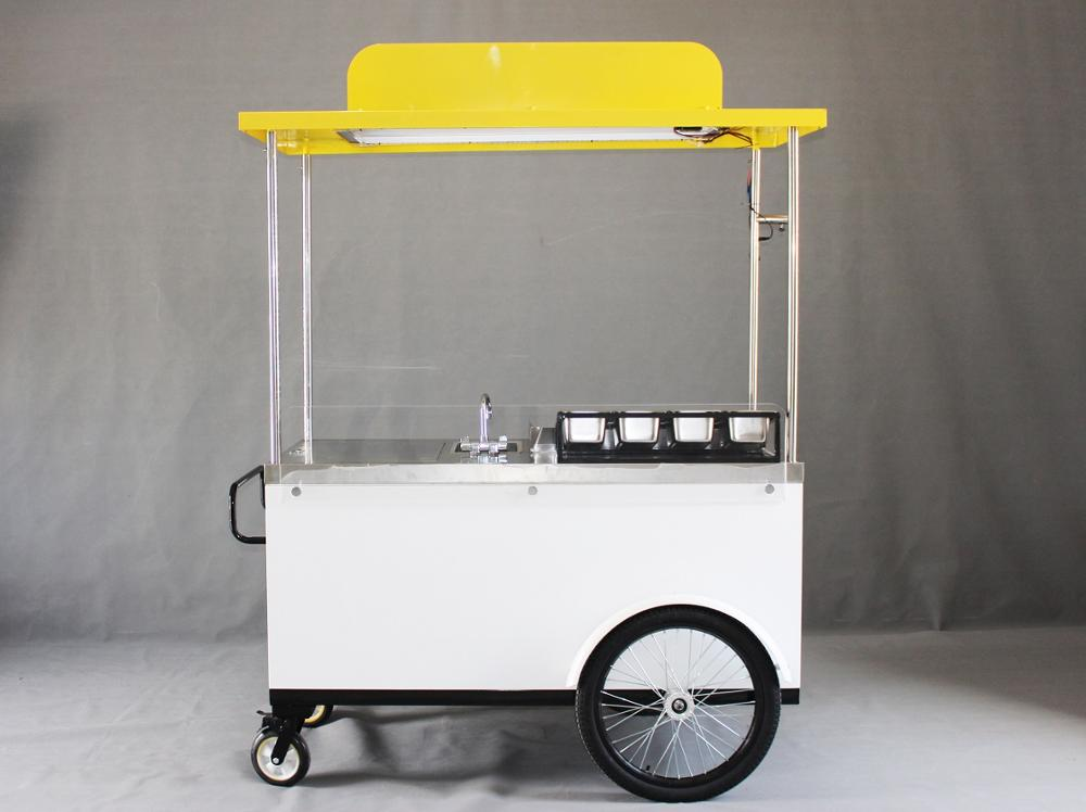 10% Discount New Style Hotdog Fast Food Van Handpush Bike Kiosk Tricycle Cart Snack With Grill