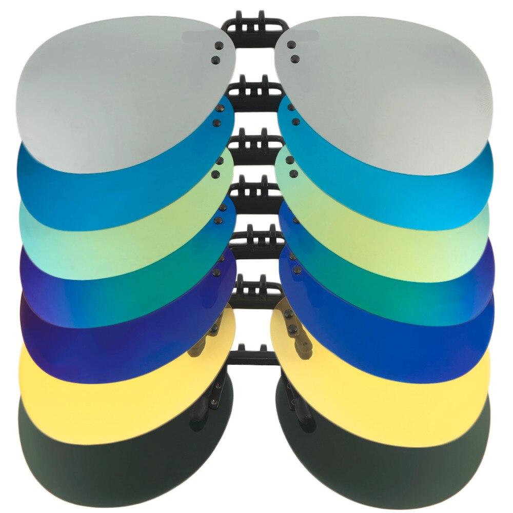 Pilot Polarized Sunglasses Men Night Vision Toad Lens Polaroid Sun Glasses Flip Up Clip On Sunglasses A30 New Fashion