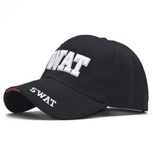 Men's SWAT Letter Embroidered Cotton Baseball Cap, Casual Da