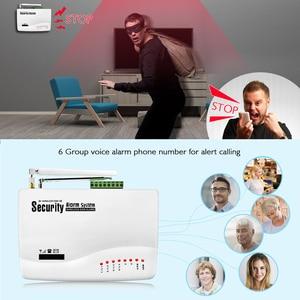 Image 2 - Wireless GSM Burglar Alarm System  Garage Detector Motion Sensor Detector Russia English Voice Security Protection Auto Dial DIY