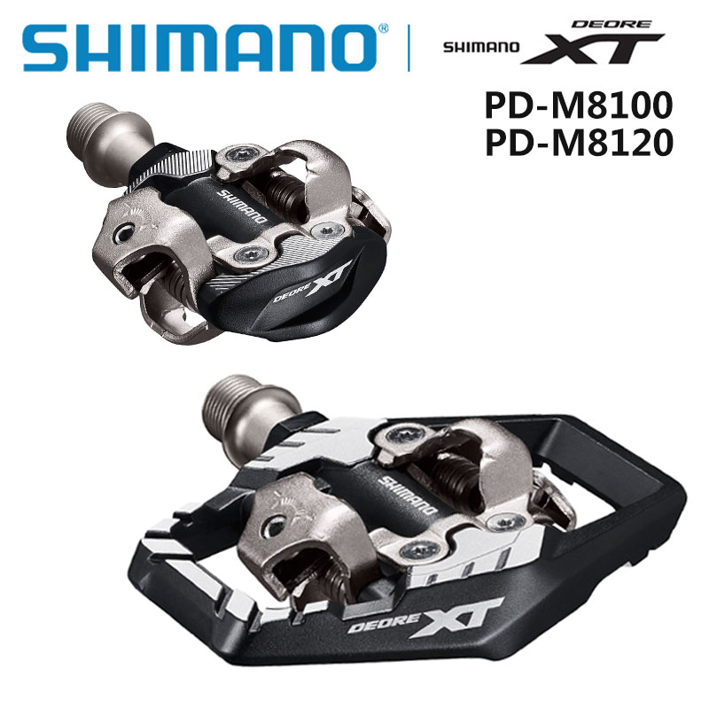 Shimano Deore <font><b>XT</b></font> PD-M8100 <font><b>M8120</b></font> XC Race SPD Pedal MTB Mountain Bike Pedals with sm-SH51 cleats image