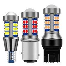 1Pcs 1156 BA15S P21W 1157 BAY15D P21/5W BAU15S T15 W16W T20 7443 W21/5W 7440 W21W T25 3157 LED Car Brake Light Auto Reverse Lamp