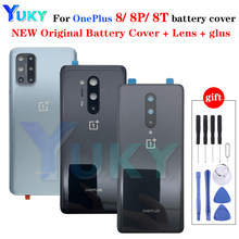 Original Back Glass Cover for Oneplus 8 Battery Cover 1+8 Rear Glass Door Housing Case Oneplus 8 Pro Battery Cover