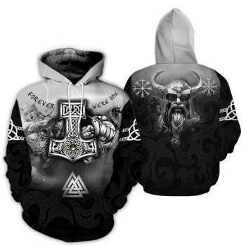 3D All Over Printed Tattoo Viking Odin Hoodie 8