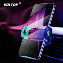 حامل هاتف سيارة آيفون 8 7 6 قابل للتعديل تنفيس الهواء حامل للسيّارة 360 درجة دوران دعم حامل هاتف السيارة المحمول