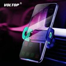 Soporte para teléfono de coche para iPhoneX 8 7 6 soporte de Ventilación ajustable para coche soporte de rotación de 360 grados soporte para teléfono móvil para coche