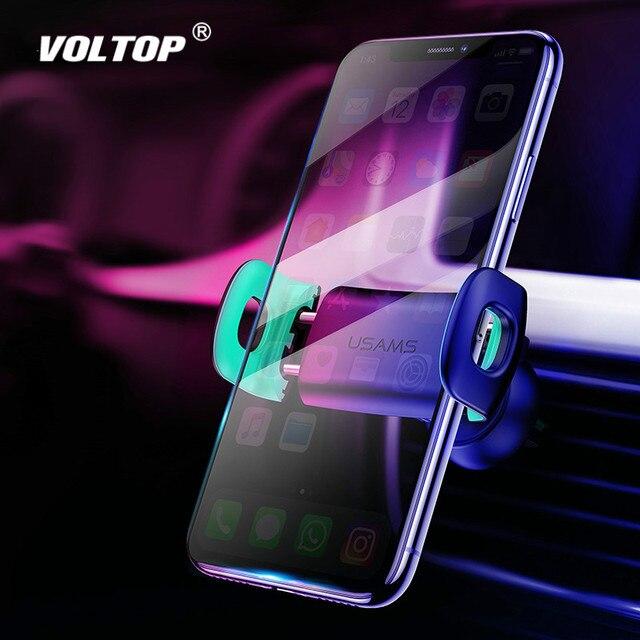 ผู้ถือโทรศัพท์สำหรับ iPhone 8 7 6 ปรับ Air Vent Mount ผู้ถือรถ 360 องศาสนับสนุนโทรศัพท์มือถือขาตั้งโทรศัพท์