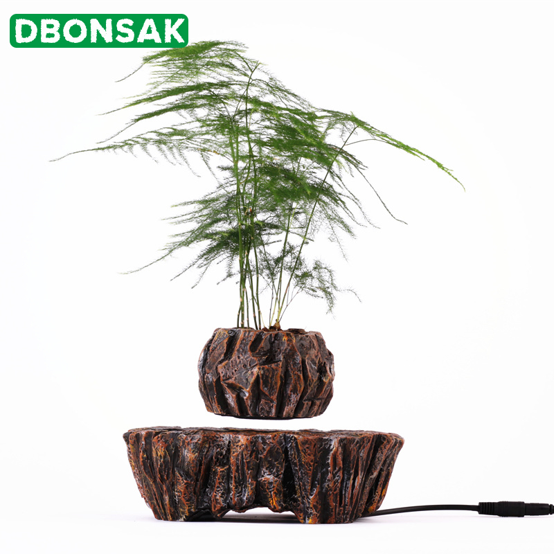 <font><b>Magnetic</b></font> Levitation Potted Plant Floating Air Bonsai Tree <font><b>Pot</b></font> Garden Rotation <font><b>Flower</b></font> <font><b>Pot</b></font> Decoration Beautiful Gifts For Friends image