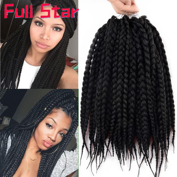 Full Star Box Braids 12 Inches Extensions Ombre Black Purple Synthetic Crochet 80 grams/pack free shipping Hair - discount item  38% OFF Synthetic Hair