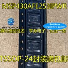 10 шт. MSP430AFE253 430AFE253 MSP430AFE253IPWR TSSOP24 16 bit микропроцессорный чип в наличии 100% новый и оригинальный