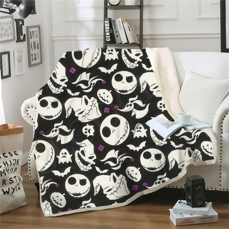 Jack Skellington 3D Print Blanket The Nightmare Before Cute Style Blanket Sofa Travel Throw Blanket Boy Girl Bedding Plush Quilt