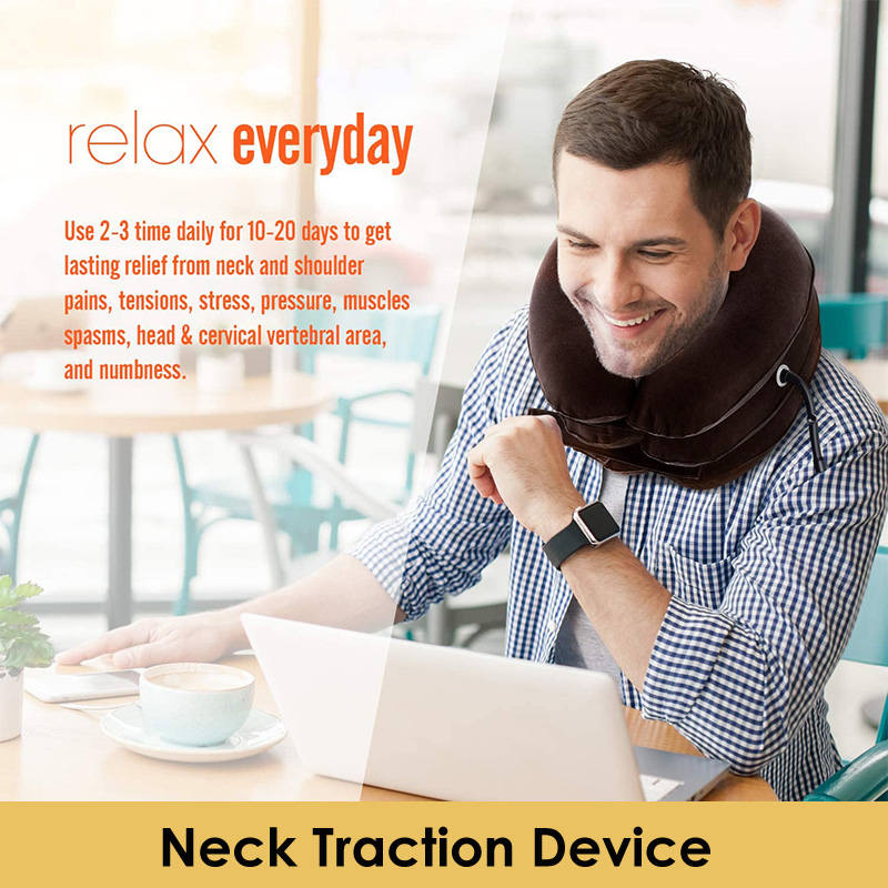 neck stretcher cervical Brace Neck Shoulder Pain Relax Inflatable Pillow Support Massage neck Relax tensions ease collar