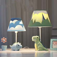 цена Modern lovely dinosaur table lamp creative Resin LED desk light for living room bedroom bedside lamp study room indoor light e27 онлайн в 2017 году