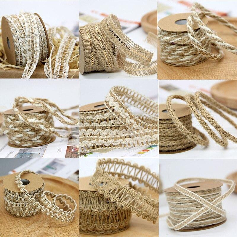 10m 5m Mesh Hollow Natural Jute Twine Rope String Cord Diy Craft Burlap Scrapbook Party Diy Decorations Aliexpress