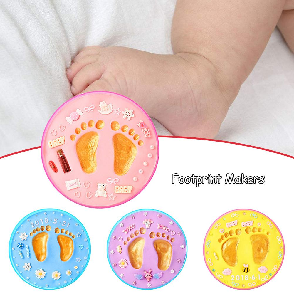 Baby Hand & Footprint Makers DIY Children Newborn Hundred Days Month Anniversary Gift Unique Baby Shower Gift Sets