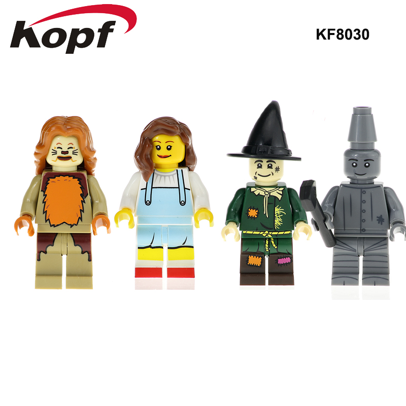 KF8030 Single Sale Building Blocks The Wonderful Wizard Of Oz Figures Yes Tin Man Cowardly Lino Dorothy Bricks Children Toys