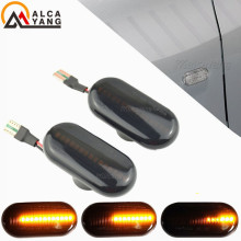 2PCS For Renault Led Dynamic Side Marker Turn Signal Light Sequential Blinker Light For CLIO ESPACE KANGOO MEGANE LAGUNA MASTER for renault megane iii 3 door sport tourer scoe 2x12smd led front parking light front side marker light source car styling