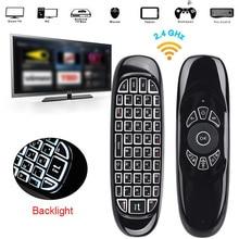 C120 2.4G Mini Air Mouse Gyro Wireless Keyboard Remote Control