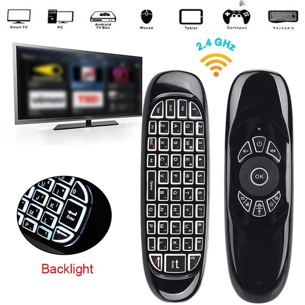 C120 2.4G Mini Air Mouse Gyro Wireless Keyboard Remote Control For Smart TV Box Brand New And High Quality