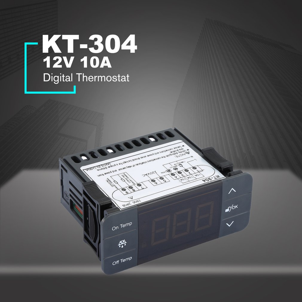 KT-304 Digital Temperature Controller Thermostat Thermocouple Sensor With Refrigeration Defrost Fan Function Sale