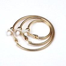 Stainless Steel Clip Hoop Earrings Non Piercing Women Mens Clip