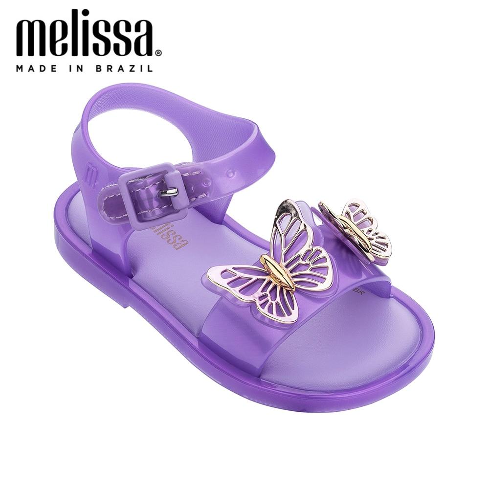 Mini Melissa Cute Sandal Fly Girl Jelly Shoes Sandals 2020 Summer Baby Shoes Melissa Sandals For Kids Princess Beach Sandals