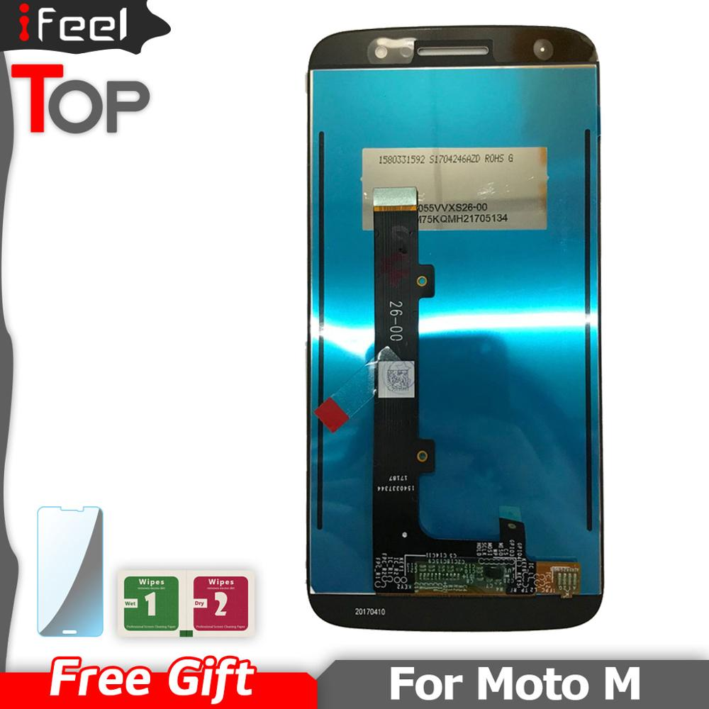 <font><b>LCD</b></font> For Motorola Moto M <font><b>XT1662</b></font> XT1663 <font><b>LCD</b></font> Display + Touch Screen Digitizer Assembly For MOTO M phone Display image