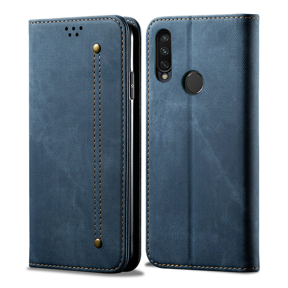 Honor 9X Premium Case Honor X9 9 X Flip Cover Luxury Solid Cloth Leather Wallet Funda Huawei Honor 9X Case Honor9X Premium Armor Wallet Cases     - title=